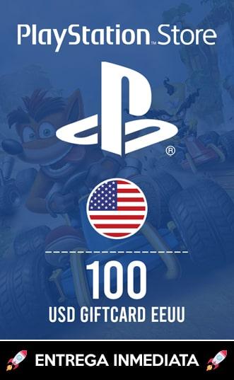 100 USD PSN (EEUU)