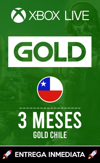 XBOX LIVE GOLD 3 MESES (CHILE)