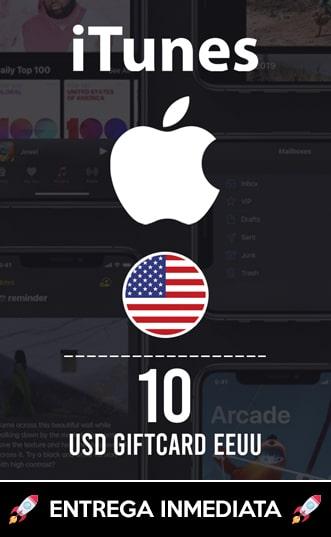 10 USD ITUNES (EEUU)